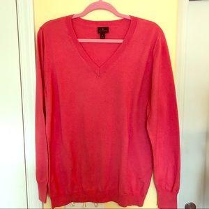Worthington Coral V-neck XL Sweater